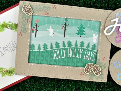 Intro to Deck the Halls & Stitched Snowflakes + 2 cards and 2 tags from start to finish