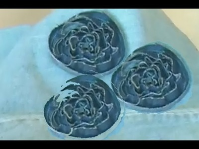 Jeans bag decoration (How to sew roses) Recycled jeans project