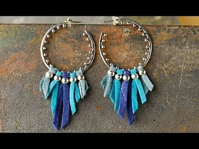 Jewelry How To - Make Leather Fringe Earrings