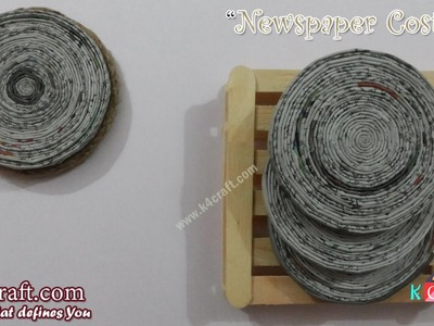"Learn How to make ""Newspaper Coaster"" at Home 