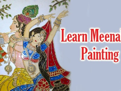 Learn Meenakari Painting - How to Paint Meenakari Painting - Acrylic Painting Lessons