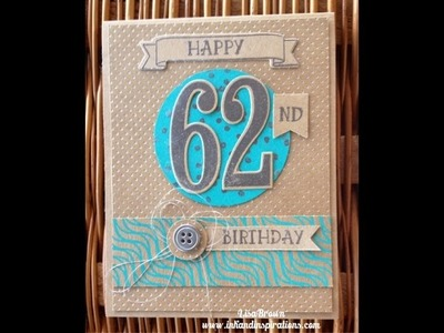 Make a Masculine Birthday Card with Number of Years