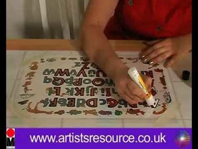 Make a Peel off Fridge and Window Alphabet - Glass Painting Project - Art and Craft