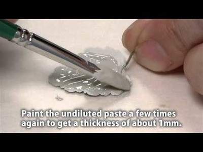Make silver leaf pendants with PMC Paste