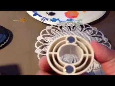 Martha Stewart Circle Doily Punch - It is easy to use!!!