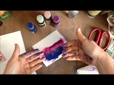 May Flaum Deomonstrates Tim Holtz Distress Paints