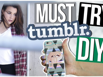 MUST TRY TUMBLR DIYS! | Affordable Room Decor + Tumblr Clothes!