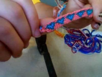 My friendship bracelet creations:)