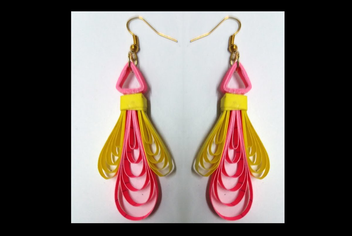 New Model Quilling Earring Making by easy method -  quilling papers earring