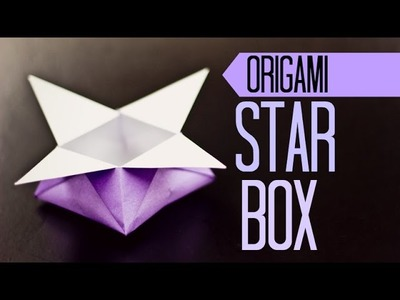 Origami for kids. Star Box instructions