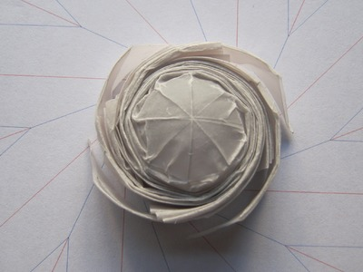 Origami tutorial octagonal flasher spinner 20 seconds (origamitourist)