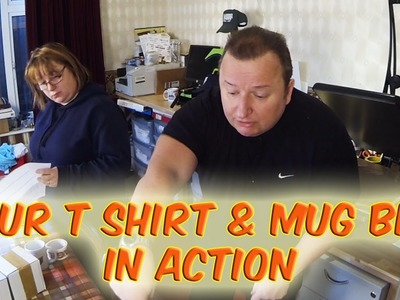 Our T Shirt and Mug Printing Business In Action Working From Home