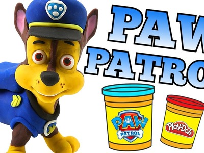PAW PATROL Play doh Chase Stop Motion Rescue Pups video --- Paw-Doh Animation