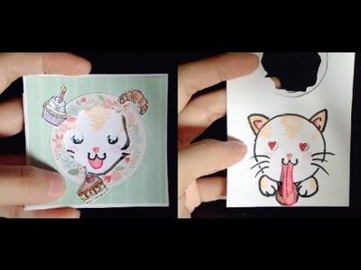 Peek a Boo Card Tutorial | Sticking Out Tongue ♡