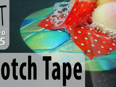 Scotch Tape Handle For Sanding Polymer Clay Beads