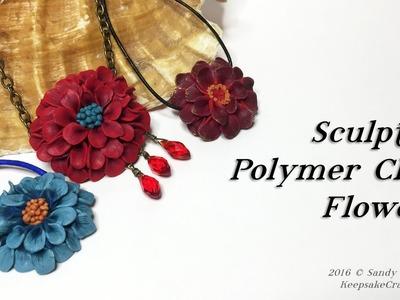 Sculpted Polymer Clay FlowersTutorial