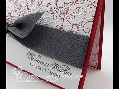 Simple Cards to Make with the Stampin' Up Big Shot - KISS Card