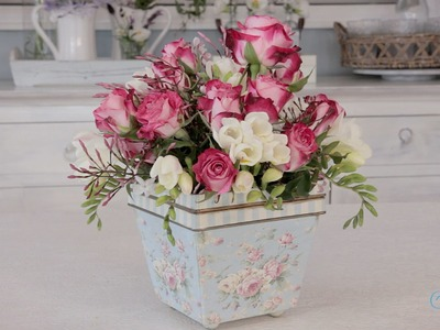 Simple Rose Arrangement Floristry Tutorial