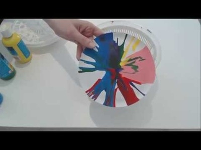 Spin Art - Activities for toddlers and preschoolers