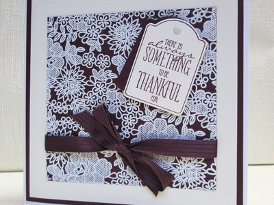 Stampin Up Something Lacy and Note Tag Punch Card
