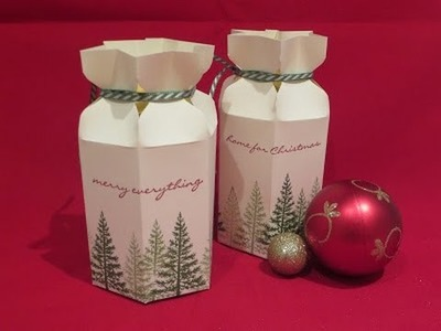 Star Top Gift Box - Video Tutorial using Festival of Trees, Ideal for Jars.