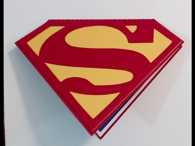SUPERMAN BIRTHDAY INVITATIONS ~ CARD TUTORIAL {SILHOUETTE CAMEO}