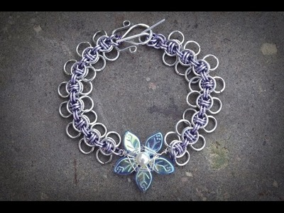 The Making of the Bluebell Chainmaille Bracelet