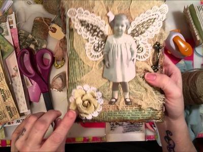 Tutorial: Making a Vintage Envelope Junk Journal - Part 4: Embellishing