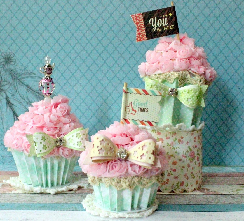 Tutorial - Shabby Faux Cupcakes | How to do | Handmade