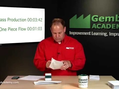 Watch This One Piece Flow vs. Mass Production Envelope Stuffing Lean Thinking Simulation