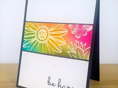 3 Cards, 1 Stamp March 2015 *Card 1*: Botanical Love Stamp: Resist Distress