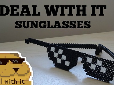 3D Perler Bead Wearable Deal With It Sunglasses