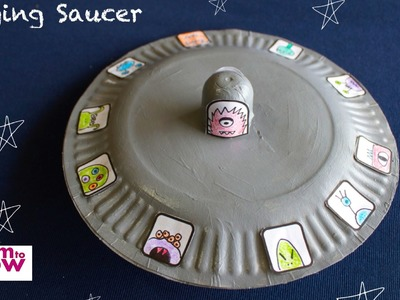 A Flying Saucer made from a Kinder Surprise Egg and Paper Plates.