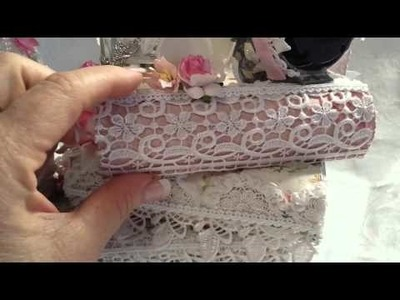 Altered Book Stack Storage Piece for Tresors de Luxe