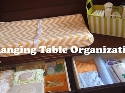 Changing Table Organization on a Budget!:  How to organize a changing station