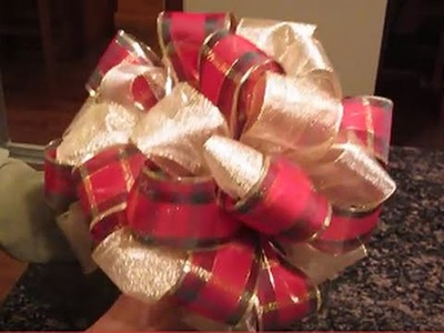 Christmas Tree Bow Topper For 4 To 5 Foot Trees