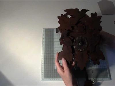Cuckoo clock custom die mini album using BoBunny Timepiece  collection part 1