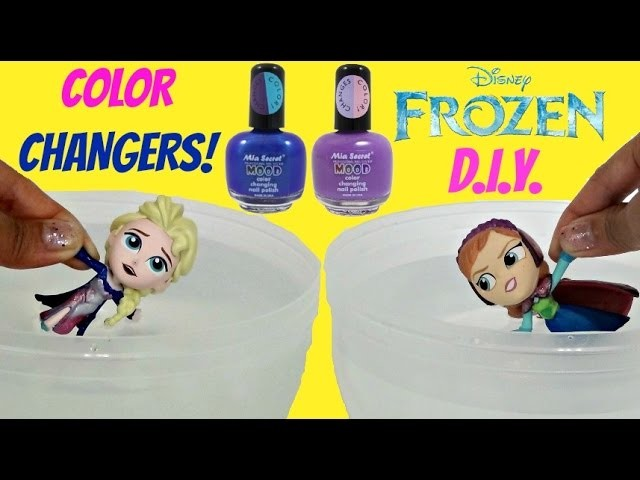 D.I.Y. COLOR CHANGERS! Disney Frozen Mystery Minis Funko Anna, Elsa Toys Craft Activity. TUYC
