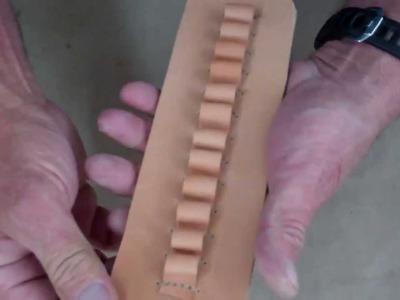 "Demo on ""Making a leather Belt slip Cartridge holder """