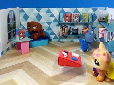 DIY Books & LPS Doll Bookstore