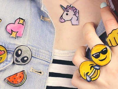 DIY: Emoji Accessories | Necklace, Pins, Brooches, Rings & More!