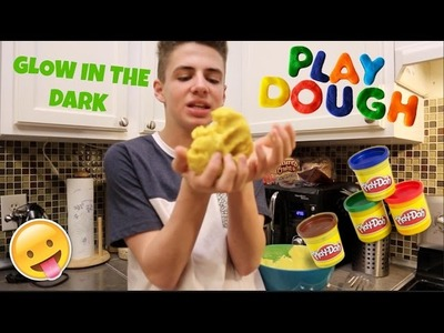 DIY GLOWING PLAY-DOH | Bruhitszach