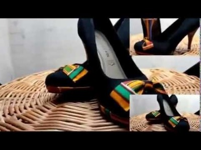 DIY  How to design your heels with (Kente) African print