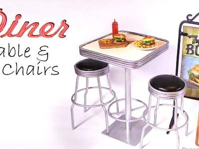 Doll Cafe.Diner Furniture Tutorial (Table & Chairs)
