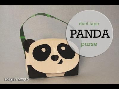 Duct Tape Panda Purse