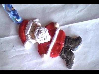 Easy Salt Dough Clay Santa Claus Ornament