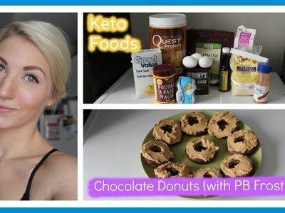 Eating Keto 7: Chocolate Donuts (w. Peanut Butter Protein Frosting)