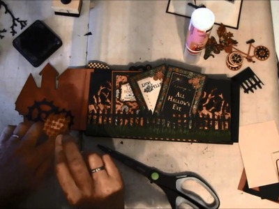 Envelope Mini album tutorial with Steampunk Spells collection part 4