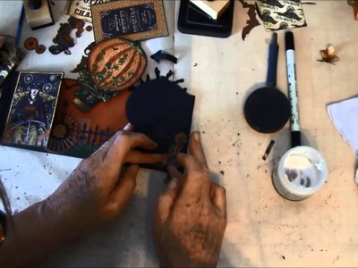 Envelope Mini album tutorial with Steampunk Spells collection part 6