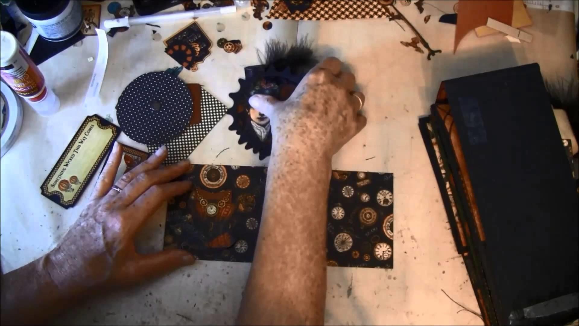 Envelope Mini album tutorial with Steampunk Spells collection part 11